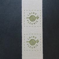 étiquettes coton biologique 40 x 100 mm
