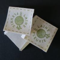 étiquettes coton bio 40 x 50 mm