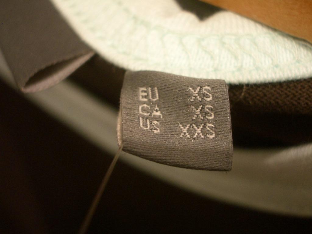 étiquettes de tailles personnalisées