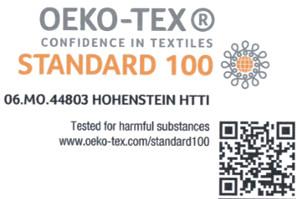 Etiquettes tissées Ultra Haute Définition certifiées OekoTex